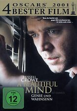 A Beautiful Mind genius and insanity/DVD-Top Condition
