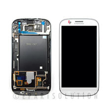 White Samsung Galaxy S3 i747 T999 LCD Touch Digitizer Screen Assembly + Frame