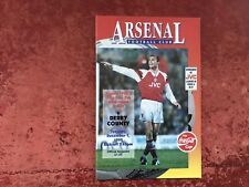 Arsenal v Derby 1 December 1992 Mint Condition Post Free