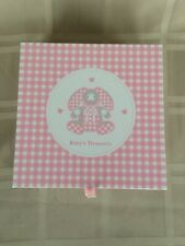 Reed & Barton Pink Gingham Bunny Keepsake Box New In Box Baby Girl