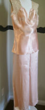 Antique 1920s Camisole Pants Silk Satin Set Embroidery