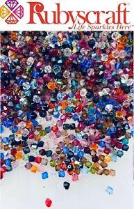 Original Swarovski® 75pcs 5mm Bicone beads Mixed 5328 Bead AB Colours, Standard