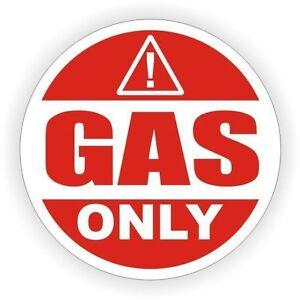 Sticker decal car rental door bumper gas fuel only red