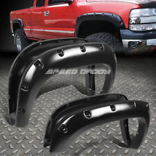 "FOR 07-13 GMC SIERRA 1500 69.3"" BED 3"" MATTE POCKET-RIVETED WHEEL FENDER FLARES"