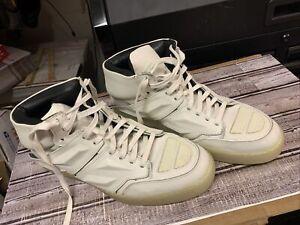 Alejandro Ingelmo White ExoTron Sneakers Gunmetal Sz 13