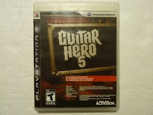 Guitar Hero 5 (PlayStation 3, 2009) PS3 Game Complete Great Condition!