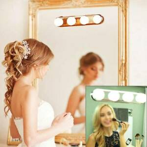 4-Led Bulbs Hollywood Mirror Lights Vanity Makeup Bathroom Dressing Table Light