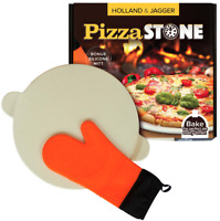 """Holland & Jagger Best Pizza Baking Stone with handles for Grill, Oven & BBQ15"""""""