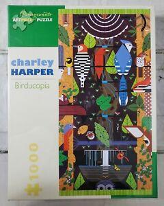 New Charley Harper Birducopia 1000 Piece Puzzle Sealed Contemporary Bird Nature