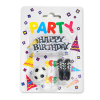 Football Kit Cake Decoration - Football Candle - Boys Soccer Birthday Party
