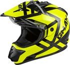 GMAX Trapper Snow Helmet (Large, Black/Hi-vis)