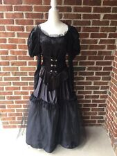 Black Deluxe Witch Costume Long Dress Vampire Woman's Size 4-6 Tulle