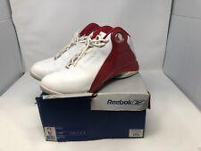 Reebok NBA Enigma Basketball Shoe Shoes Size 11.5 4-110800 White Red Silver