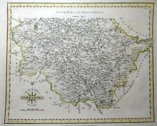 YORKSHIRE  WEST RIDING SOUTH PART  BY JOHN CARY GENUINE ANTIQUE MAP  c1793