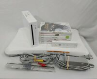 Nintendo Wii CONSOLE Wii Fit BUNDLE W/ DISNEY Games and Accessories LOT *TESTED*