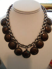 """NEW! HSN RJ Graziano Black Gold-tone Chunky Link Collar Necklace 13"""" + 3"""""""