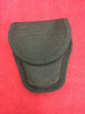 BIANCHI Black Ballistic Nylon Handcuff Case Belt Loop Velcro Flap