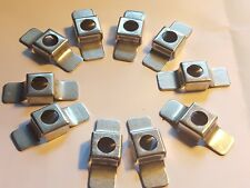 10 Vintage Steel Rear Inner Wing Wheelarch Square Captive Nut Cages