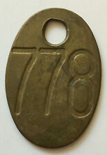 Vintage Brass COW TAG # 778 Double sided