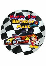Edible Cake Toppers Mickey Roadstar Racers PRE CUT - Highest Australian Quality