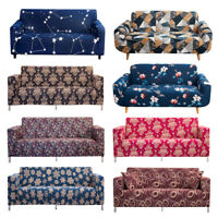 1/2/3/4 Seat Sofa Cover Spandex Stretch Floral Printed Couch Slipcover Protector