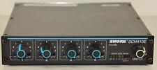 "Shure SCM410E 4-Kanal Mikrofonmixer Automatik 9.5"" 1HE 4xIN /1xOUT: XLR 3pol. *"