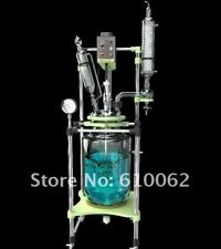 10L Explosion Proof Motor Jacketed Chemical Reactor Jacket Glass Reaction Vessel