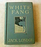 White Fang Jack London 1906 macmillan HB first ed first edition book scarce HC!