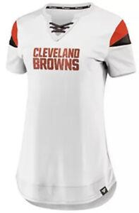 Fanatics Women's Cleveland Browns White Athena Football Jersey Medium M NFL