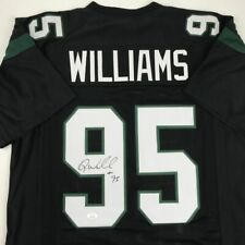 Autographed/Signed Quinnen Williams New York Black Football Jersey Jsa Coa Auto