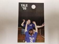 Yale University Bulldogs 1998 W Volleyball Pocket Schedule - Fusco
