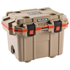 Pelican PEL30Q-2-TANORG 30 Quart Extreme Elite Cooler Outdoor Tan and Orange