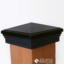 "6x6 Post Cap (6"") - Black Pyramid Top Fence Post Cap"