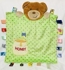 Euc Taggies Tags Teddy Bear Honey Pot Bee Green Polka Dot Baby Security Blanket