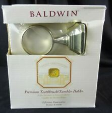 Bladwin Premium Tourmaline Toothbrush/Tumbler Holder, Solid Brass Finish !Rare!
