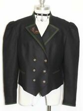 BLACK ~ WOOL Women German Winter Fitted Short EMBROIDERED Dress JACKET 42 10 M
