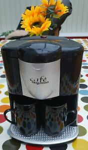 'Cafe Espresso' 2-Cup Coffee Maker/ Coffee Machine with Permanent Filter