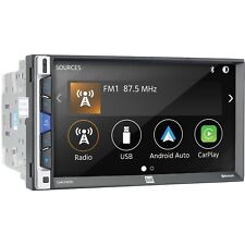 Dual Dmcpa70 2 Din Media Player CarPlay Android Auto Usb Bluetooth Camera Input