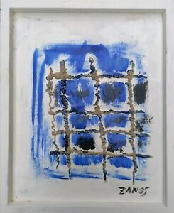 Herbert Zangs Gitter Gemälde Signiert Zangs - aus Sammlung Maiwald a. Offenbach