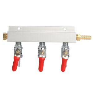 CO2 Gas Manifold/Distributor Splitter Regulator With Check Valve(3-way) NEW