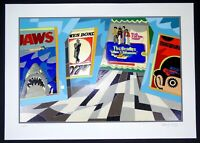"""Ugo NESPOLO - """"Jaws"""" - Serigrafia e collage, 50 x 70 cm"""