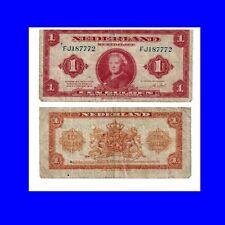 🍀Niederlande  Netherlands 1 Gulden 1943 VF-F   AB3674Vv.P 64