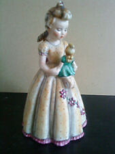 Extremely rare Goebel  No. 9 Girl and dolly Figurine full bee & Vee