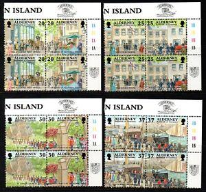 Alderney Stamps 1998 SG A116-A123  Garrison Island Blocks of 4  Mint MNH