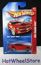 2008 Hot Wheels  Red  CHEVY CAMARO CONCEPT  Web Trading Cars Card #077 21-111419