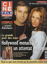 CINE REVUE (belge) 2001 N°39 george clooney julia roberts france gall kidman