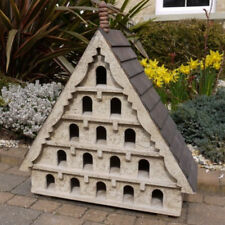 Large Wooden Bird House Feeder Rustic Garden Dovecote 15 Windows And Perches New