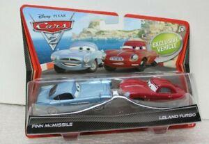 FINN McMISSILE and LELAND TURBO - 2 PK - DISNEY PIXAR CARS_2 - 2011 - RARE