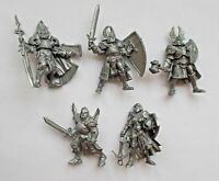 5pcs Paladin Knight Plastic Toy Soldier 54mm 1/32 scale Tehnolog Fantasy Battles