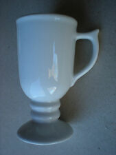 Sterling Vitrified White Footed Coffee Cup/Mug RestaurantWare East Liverpool USA